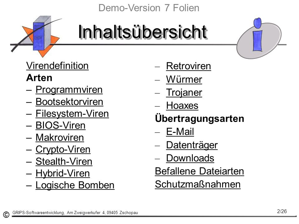 Inhaltsübersicht Demo-Version 7 Folien Virendefinition Retroviren