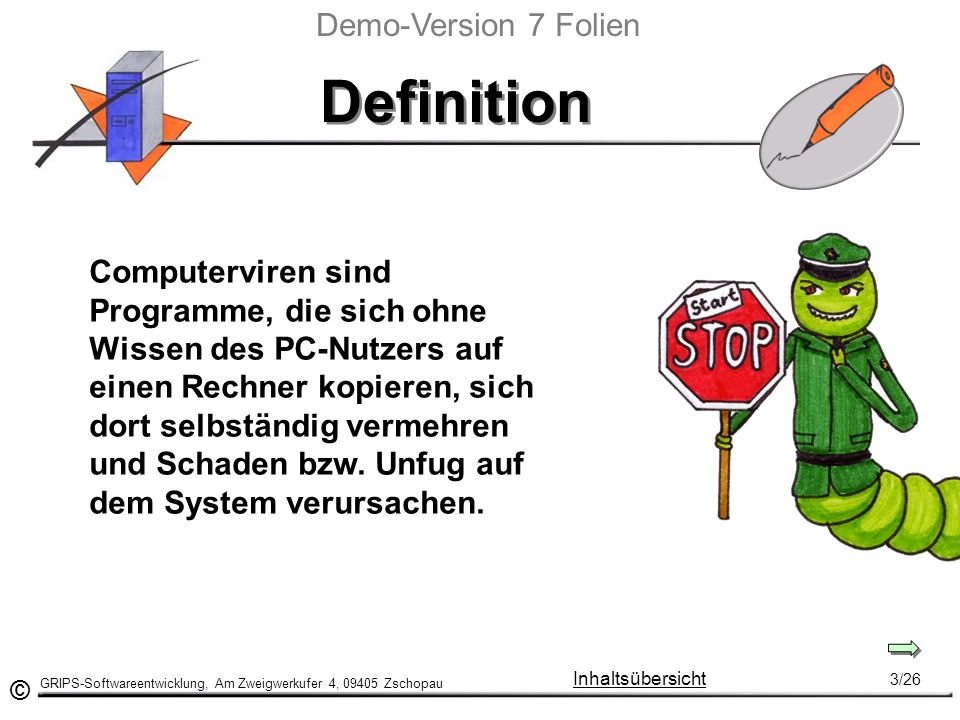 Definition Demo-Version 7 Folien