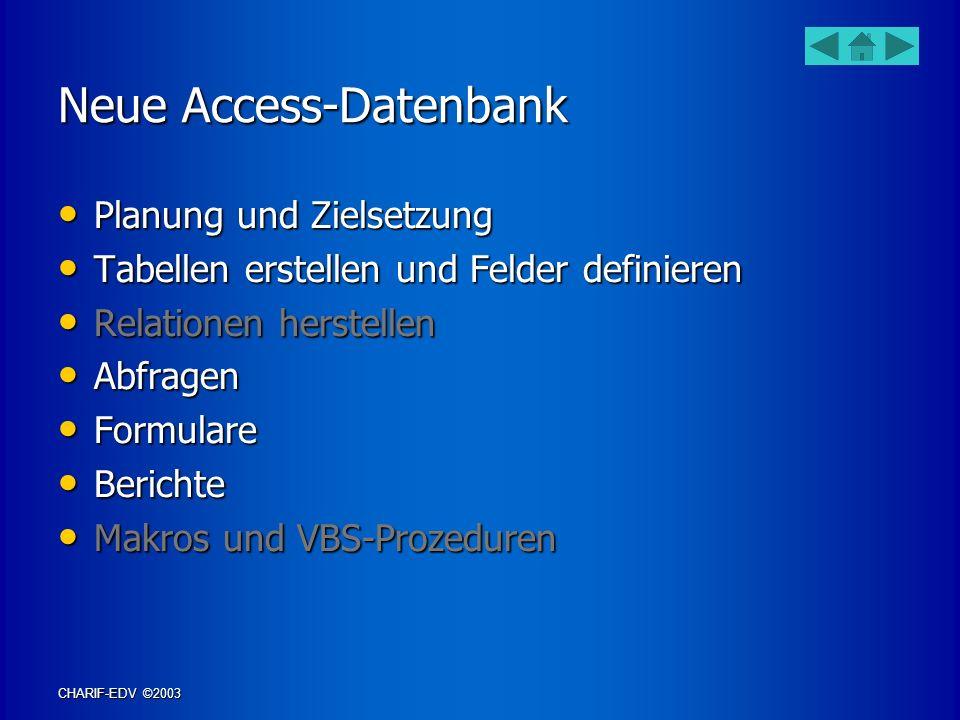 Neue Access-Datenbank