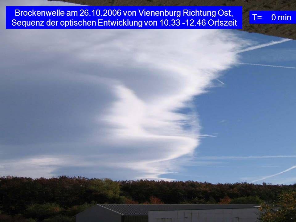 Brockenwelle am 26.10.2006 von Vienenburg Richtung Ost, Sequenz der optischen Entwicklung von 10.33 -12.46 Ortszeit