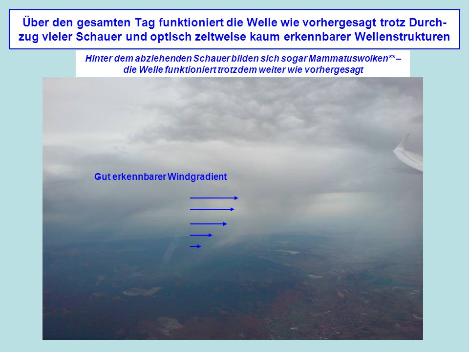 Gut erkennbarer Windgradient