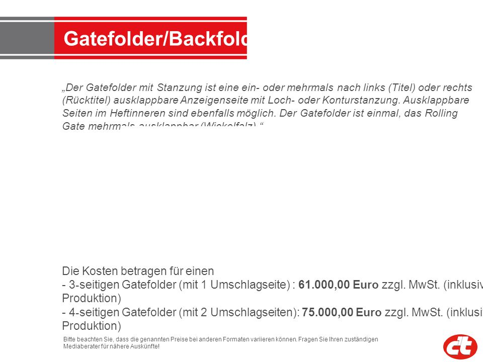 Gatefolder/Backfolder