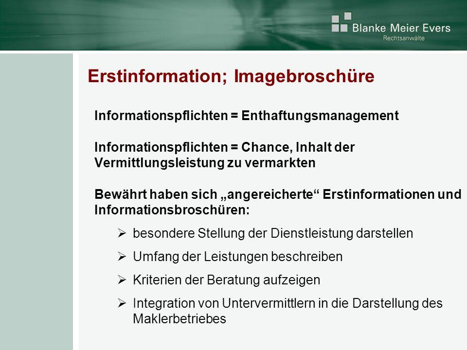 Erstinformation; Imagebroschüre
