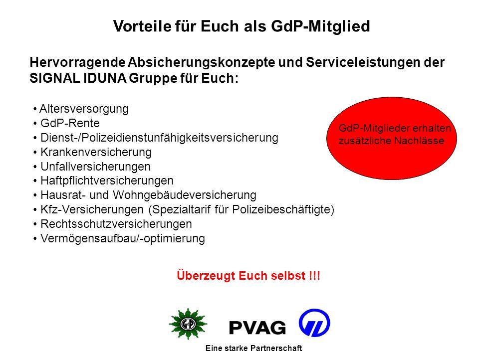 Vorteile für Euch als GdP-Mitglied