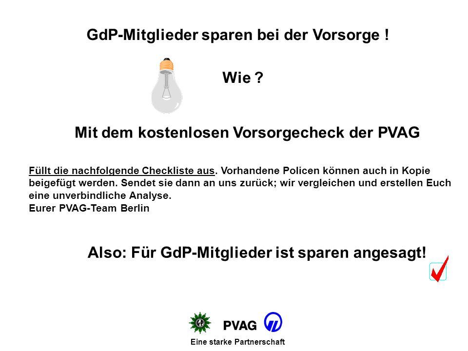 Mit dem kostenlosen Vorsorgecheck der PVAG