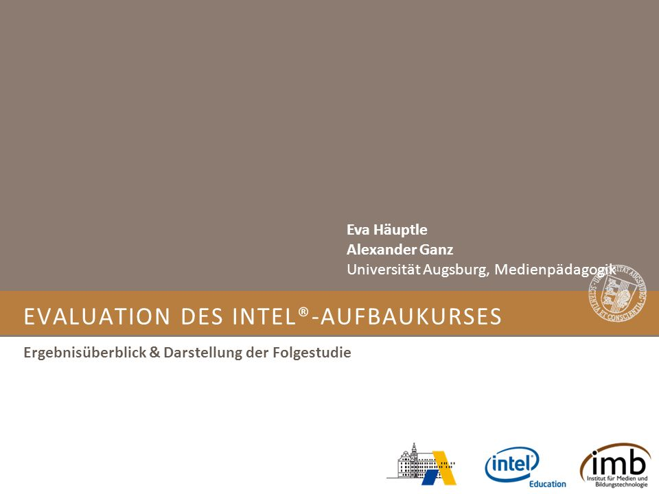 Evaluation des Intel®-Aufbaukurses