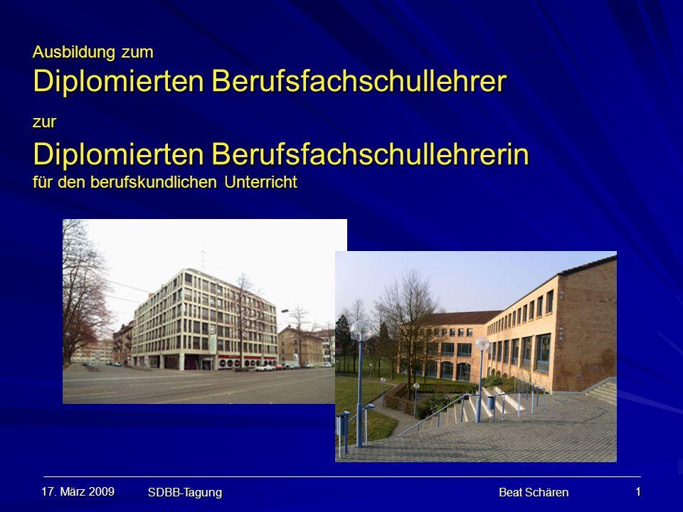 Ausbildung zum Diplomierten Berufsfachschullehrer zur Diplomierten Berufsfachschullehrerin für den berufskundlichen Unterricht