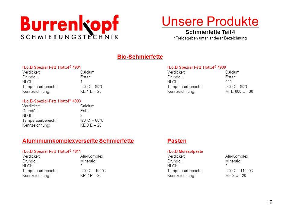 Unsere Produkte Schmierfette Teil 4
