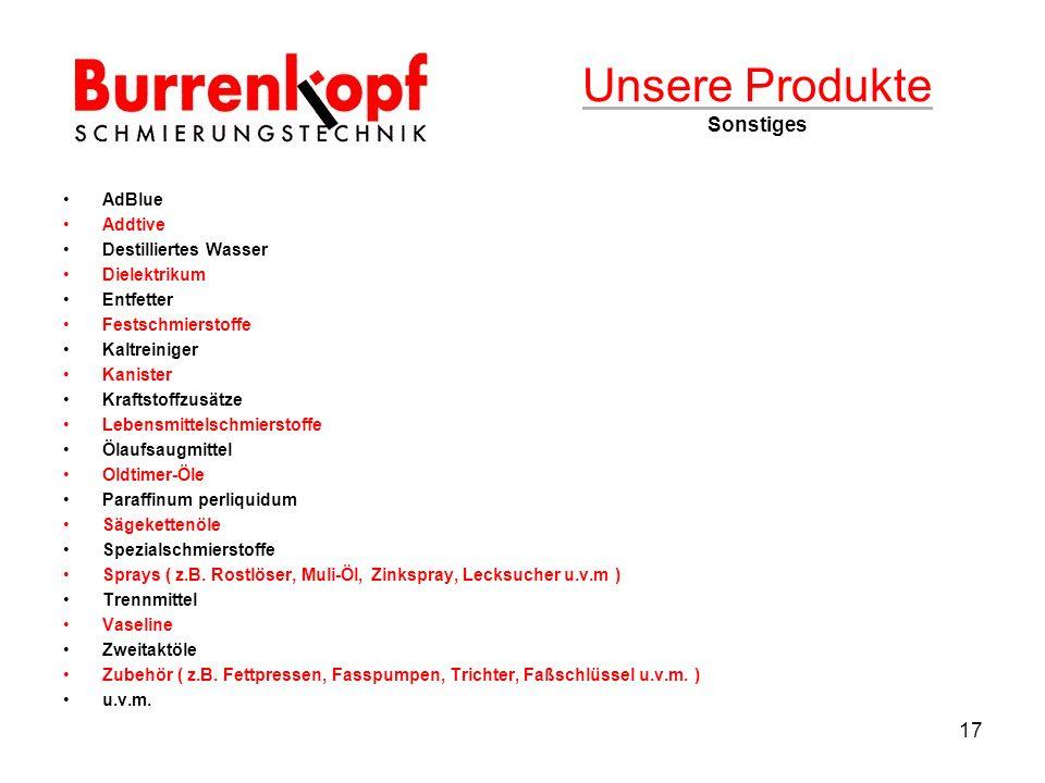 Unsere Produkte Sonstiges