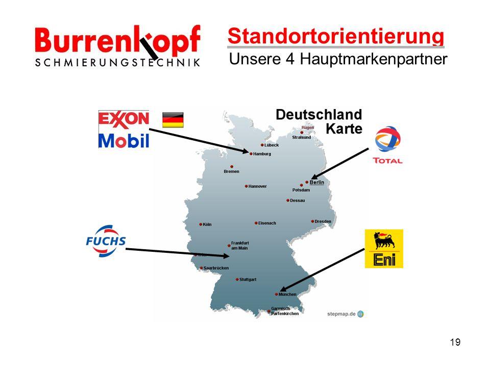 Standortorientierung Unsere 4 Hauptmarkenpartner