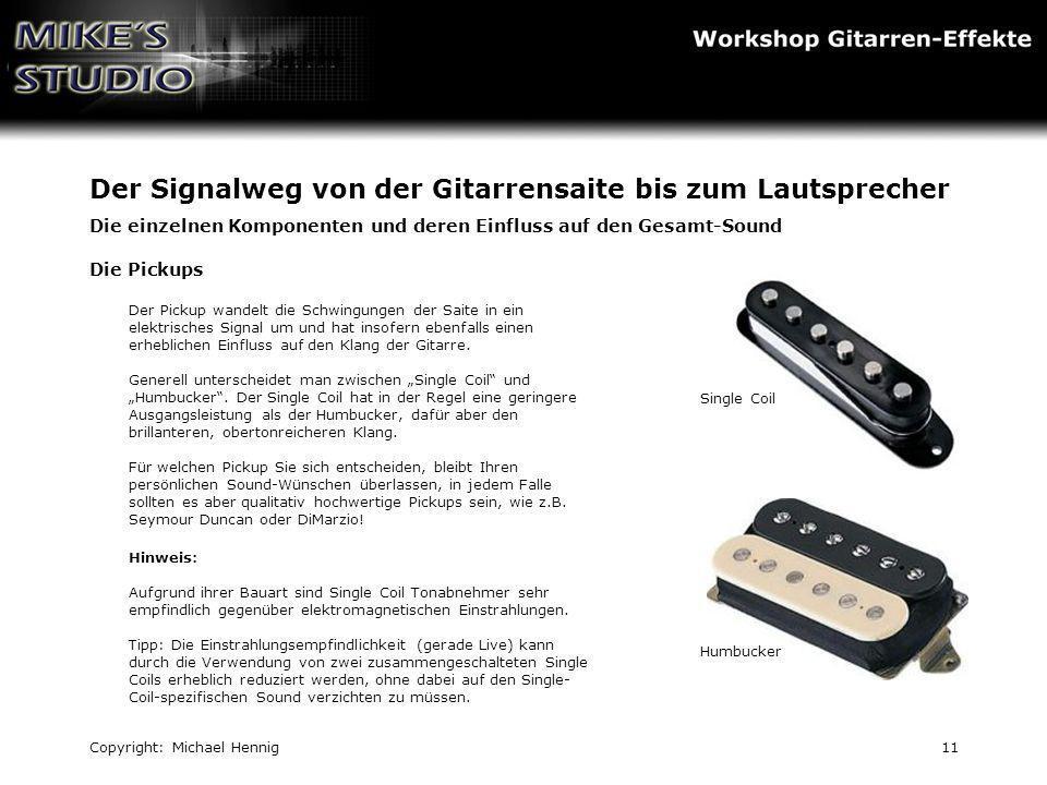 Der Signalweg von der Gitarrensaite bis zum Lautsprecher