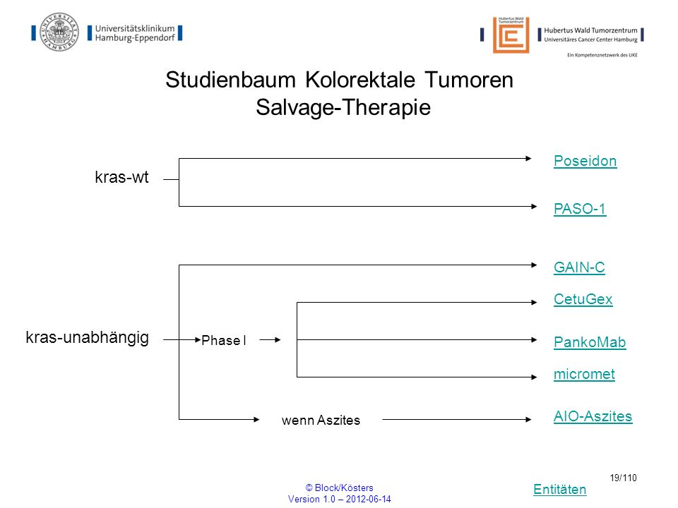 Studienbaum Kolorektale Tumoren Salvage-Therapie