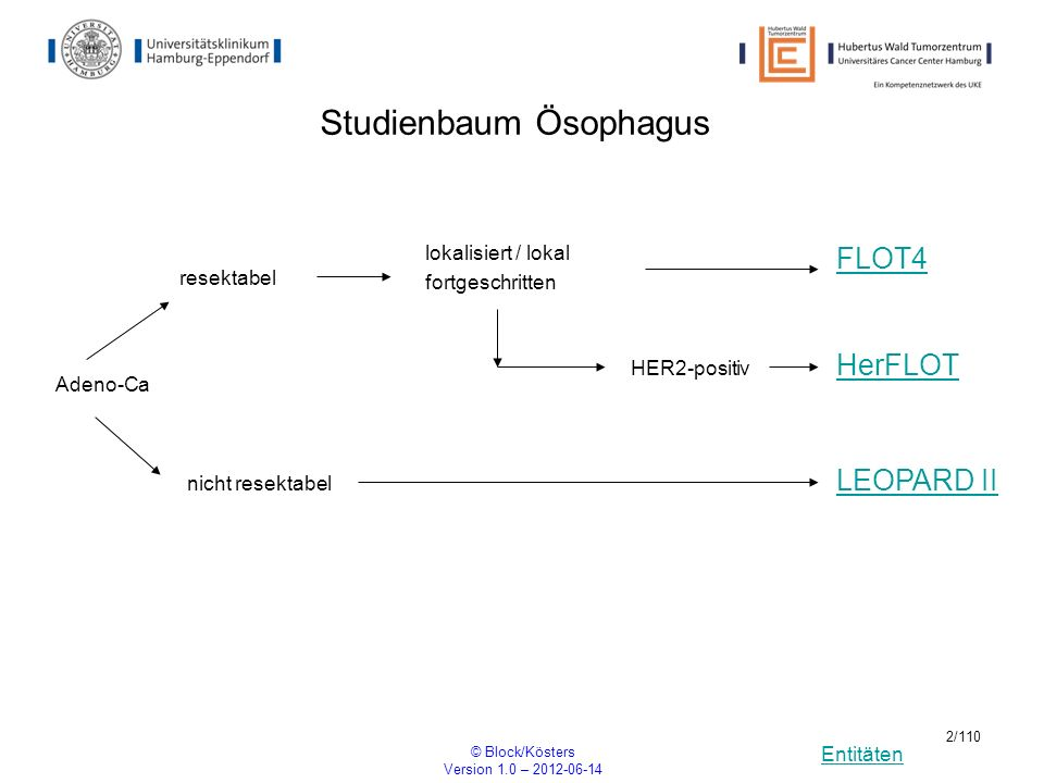 Studienbaum Ösophagus
