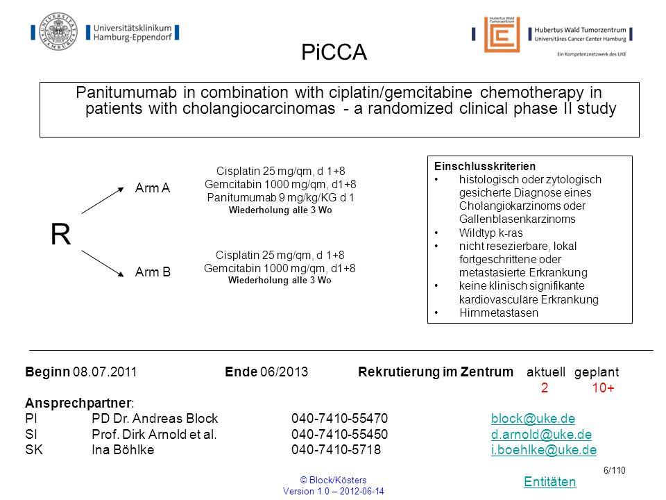 Panitumumab 9 mg/kg/KG d 1