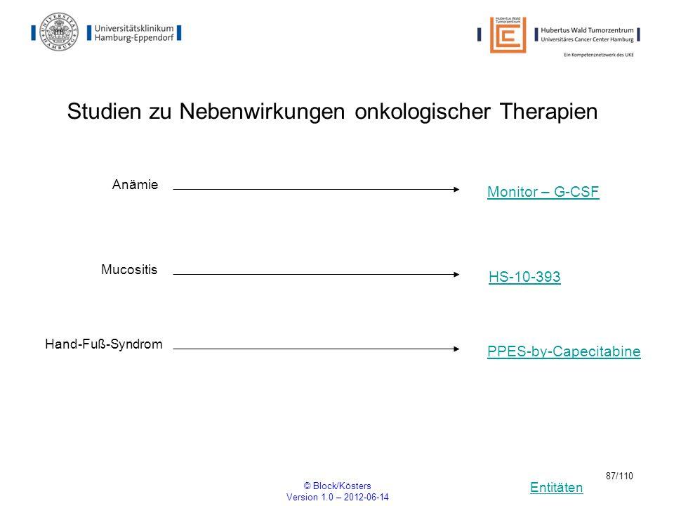 Studien zu Nebenwirkungen onkologischer Therapien