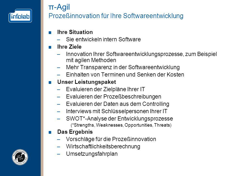 π-Agil Prozeßinnovation für Ihre Softwareentwicklung