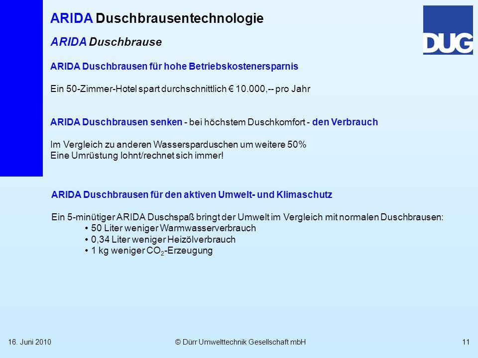 ARIDA Duschbrause ARIDA Duschbrausen für hohe Betriebskostenersparnis