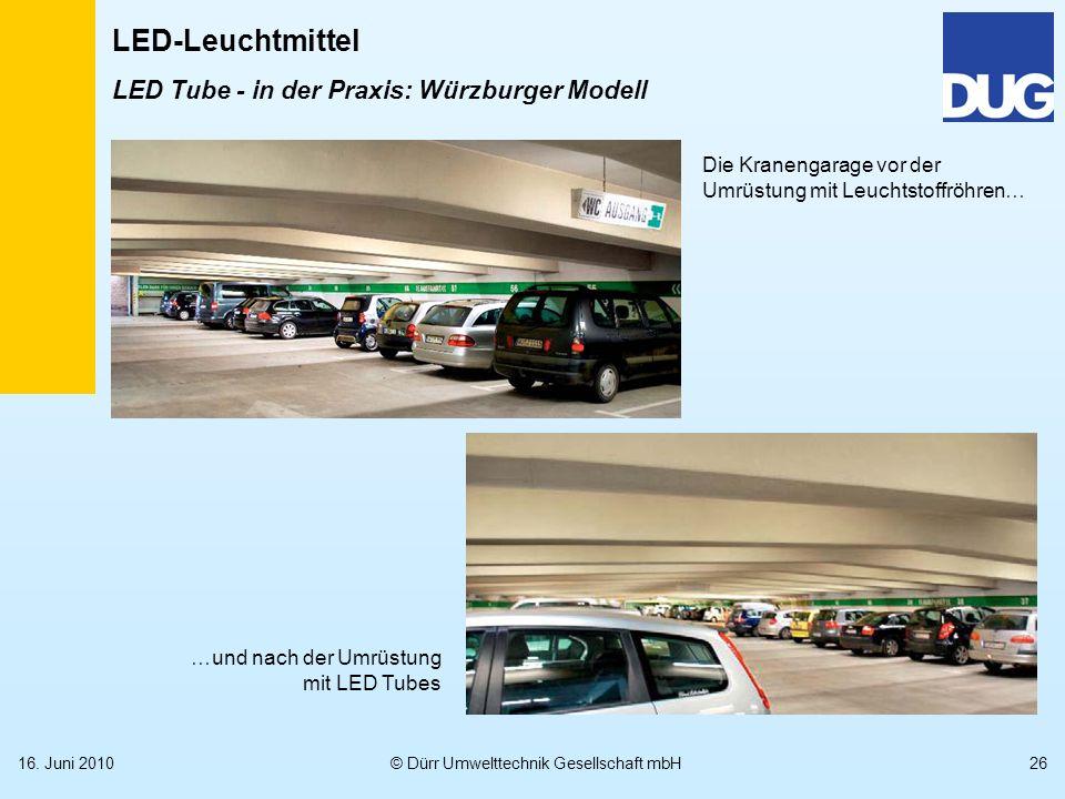 LED Tube - in der Praxis: Würzburger Modell