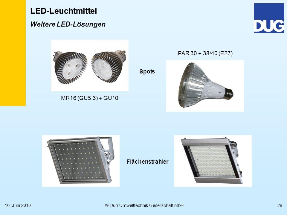 LED-Leuchtmittel Weitere LED-Lösungen PAR 30 + 38/40 (E27) Spots