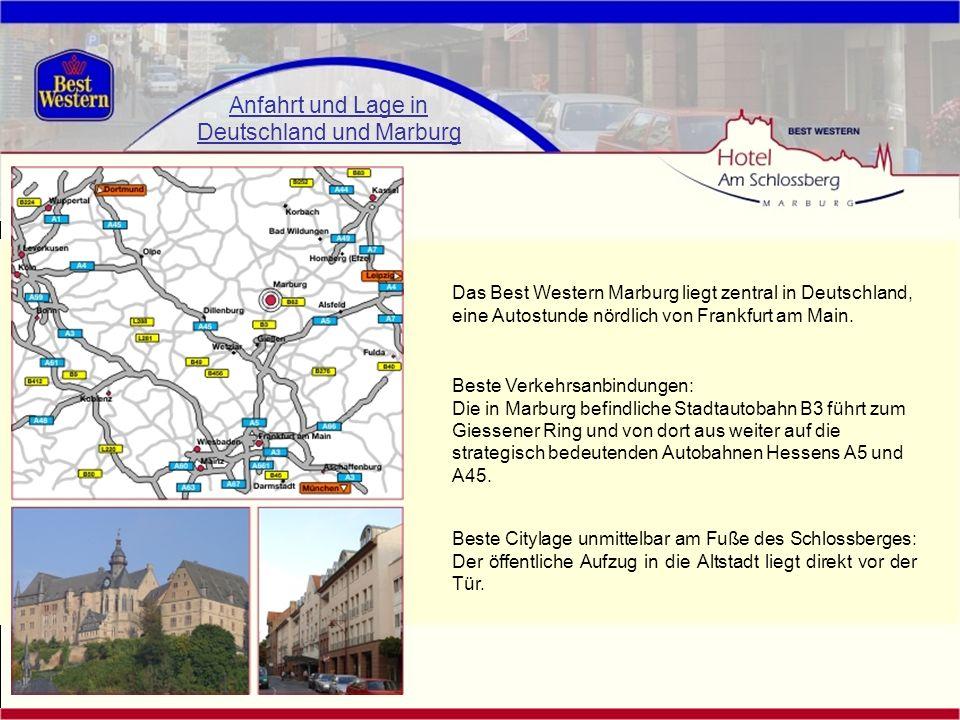 Anfahrt und Lage in Deutschland und Marburg