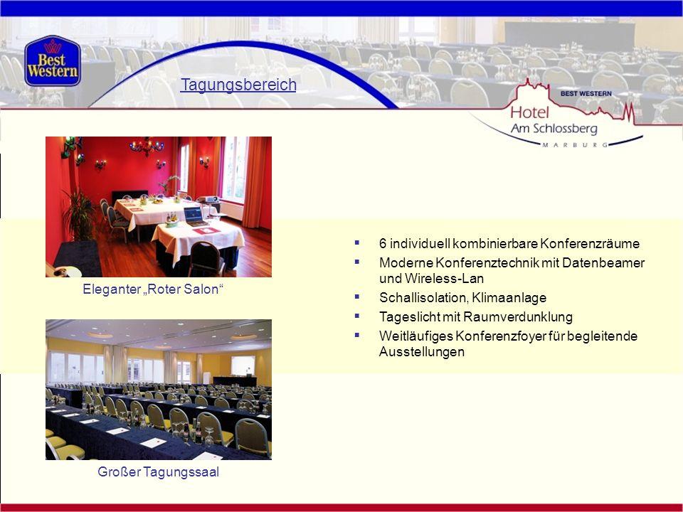 Tagungsbereich 6 individuell kombinierbare Konferenzräume