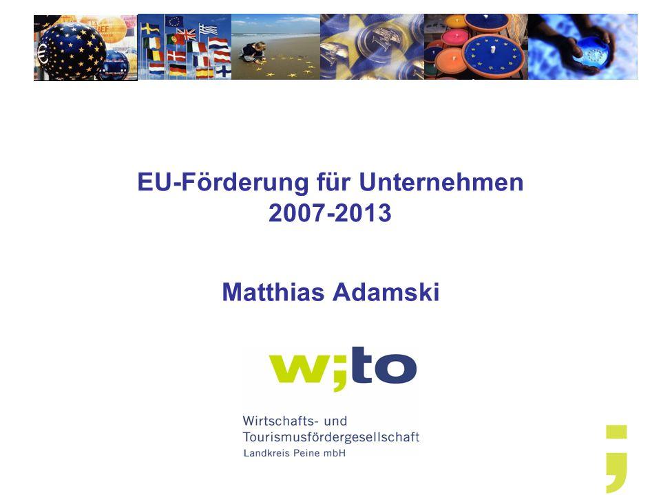 EU-Förderung für Unternehmen 2007-2013