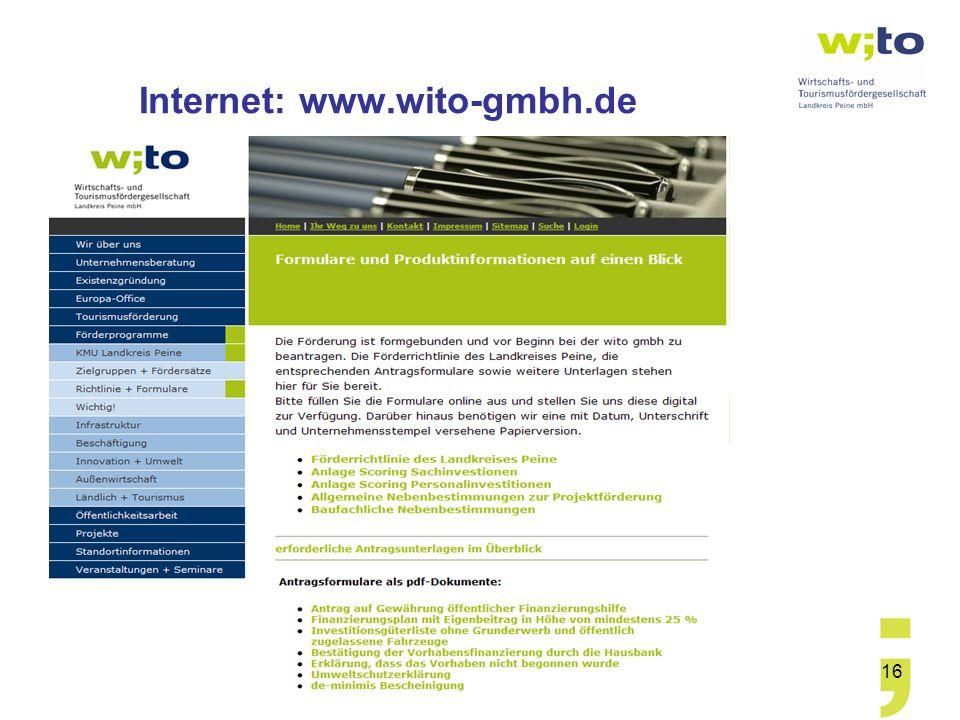 Internet: www.wito-gmbh.de