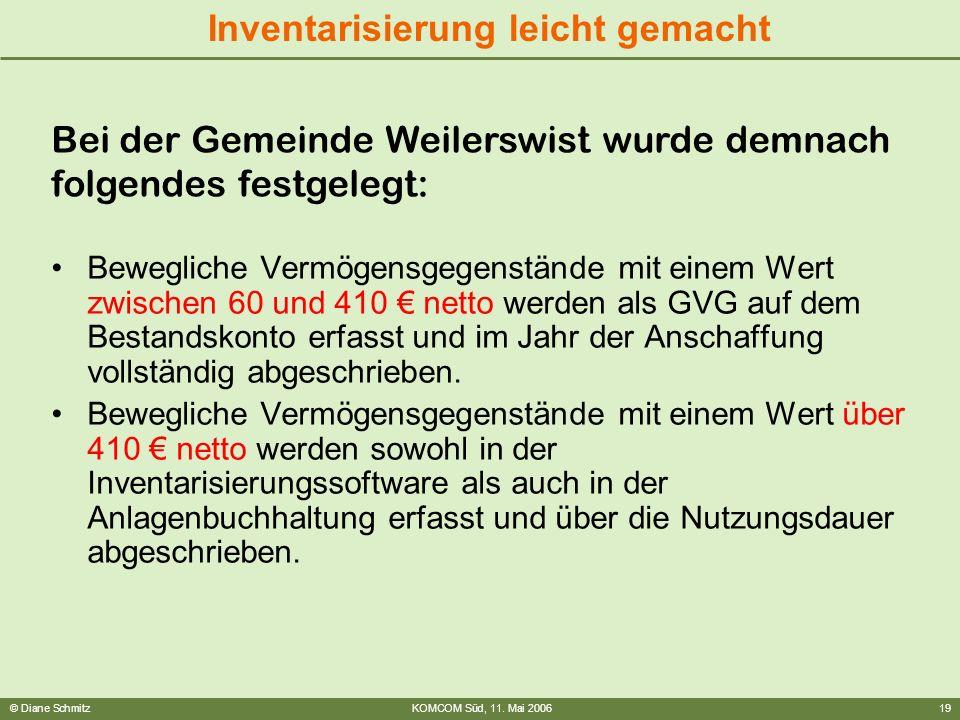 Bei der Gemeinde Weilerswist wurde demnach folgendes festgelegt: