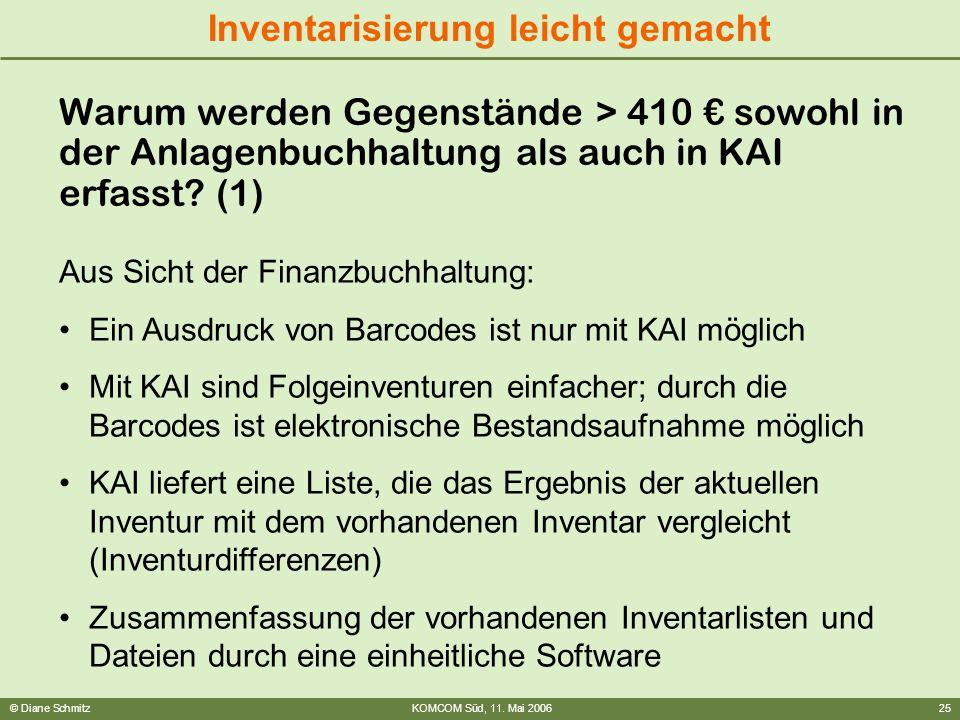 Warum werden Gegenstände > 410 € sowohl in der Anlagenbuchhaltung als auch in KAI erfasst (1)