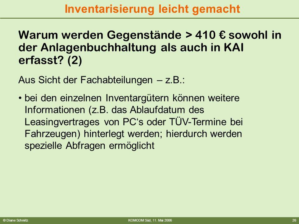Warum werden Gegenstände > 410 € sowohl in der Anlagenbuchhaltung als auch in KAI erfasst (2)