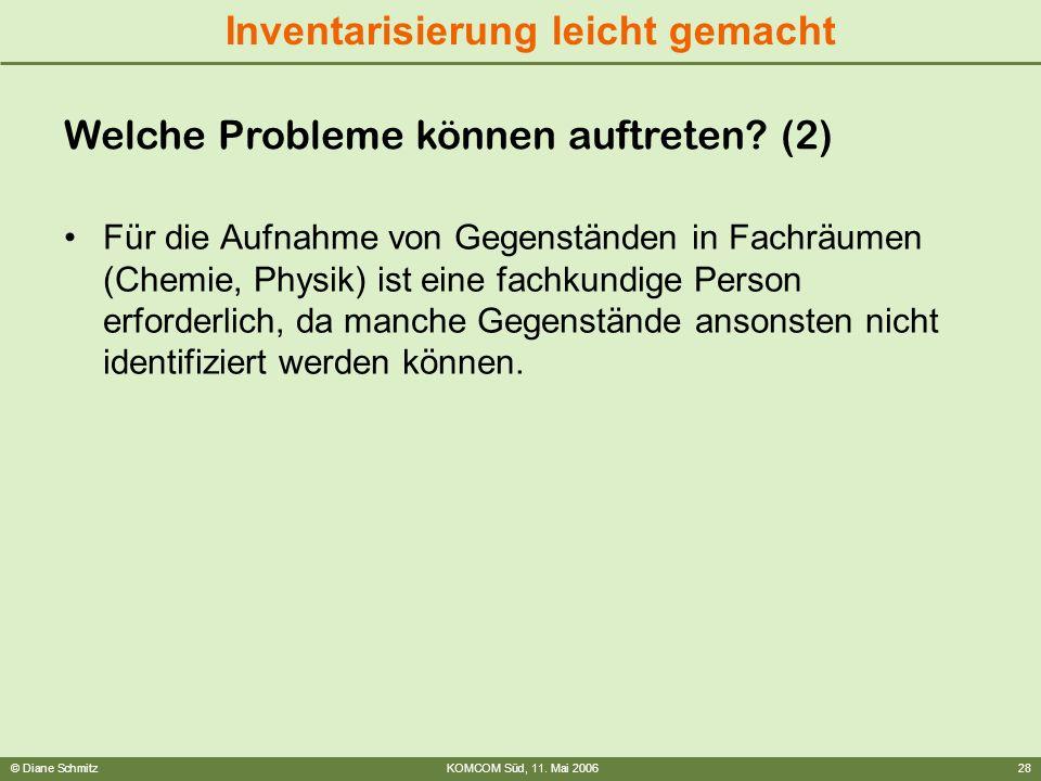 Welche Probleme können auftreten (2)