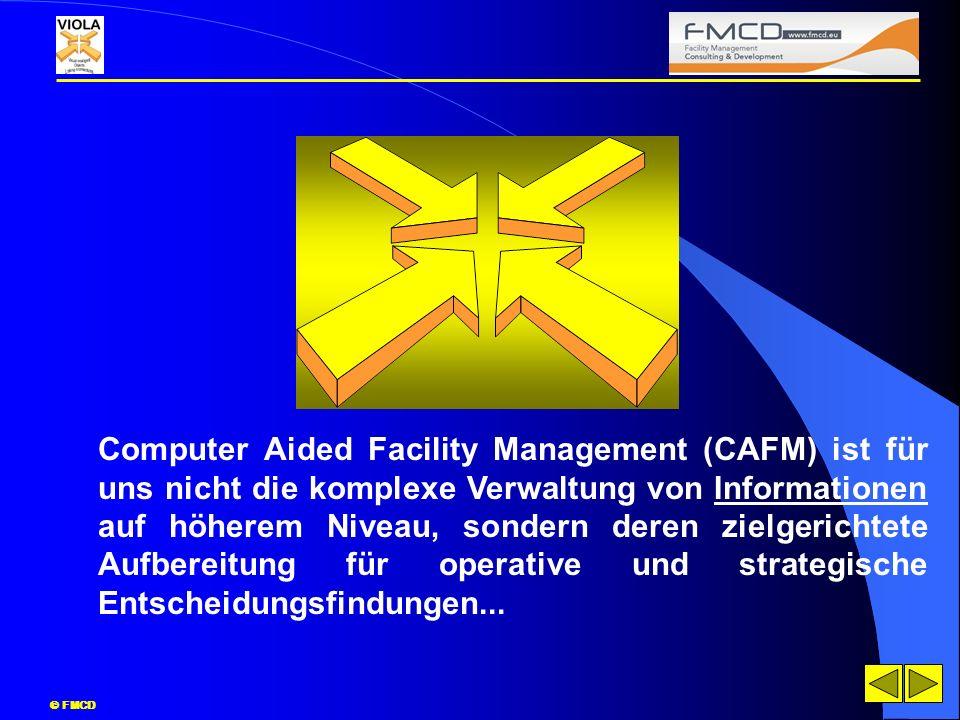 Computer Aided Facility Management (CAFM) ist für uns nicht die komplexe Verwaltung von Informationen auf höherem Niveau, sondern deren zielgerichtete Aufbereitung für operative und strategische Entscheidungsfindungen...