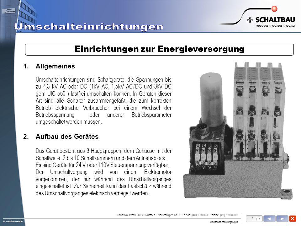 Einrichtungen zur Energieversorgung