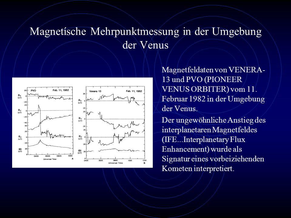 Magnetísche Mehrpunktmessung in der Umgebung der Venus