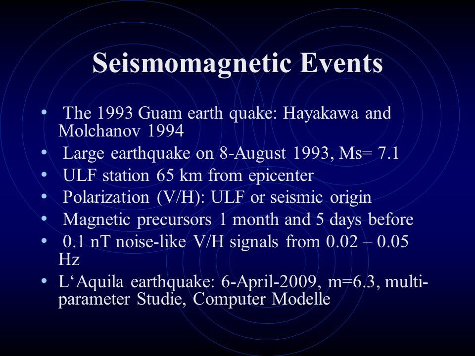 Seismomagnetic Events