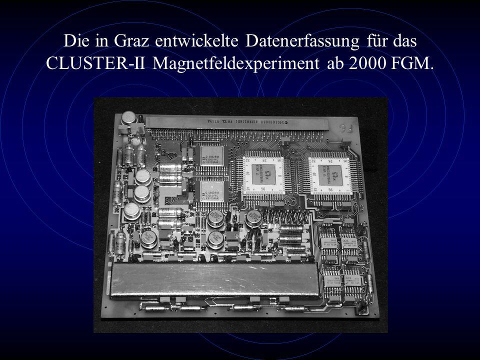 Die in Graz entwickelte Datenerfassung für das CLUSTER-II Magnetfeldexperiment ab 2000 FGM.
