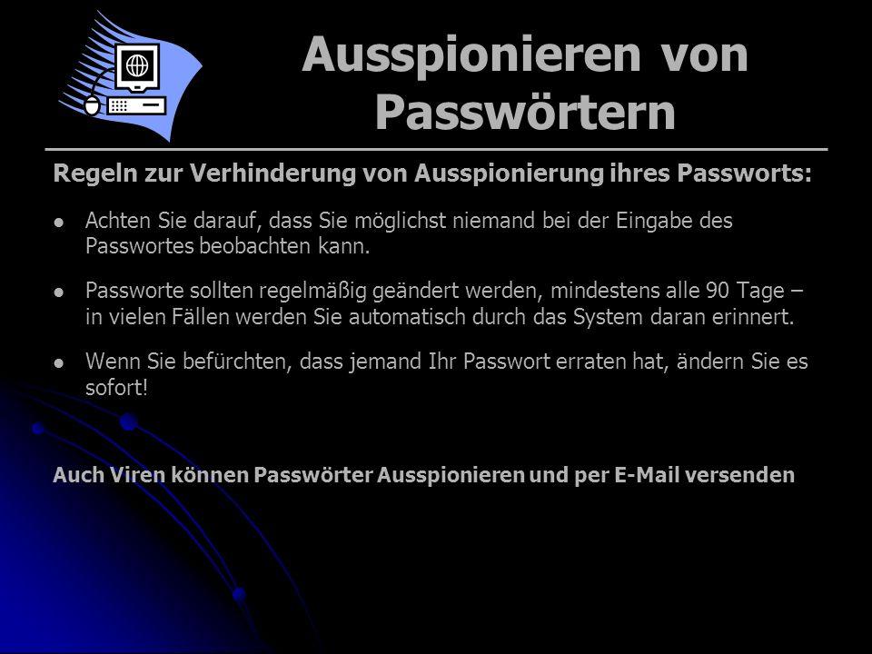 Ausspionieren von Passwörtern