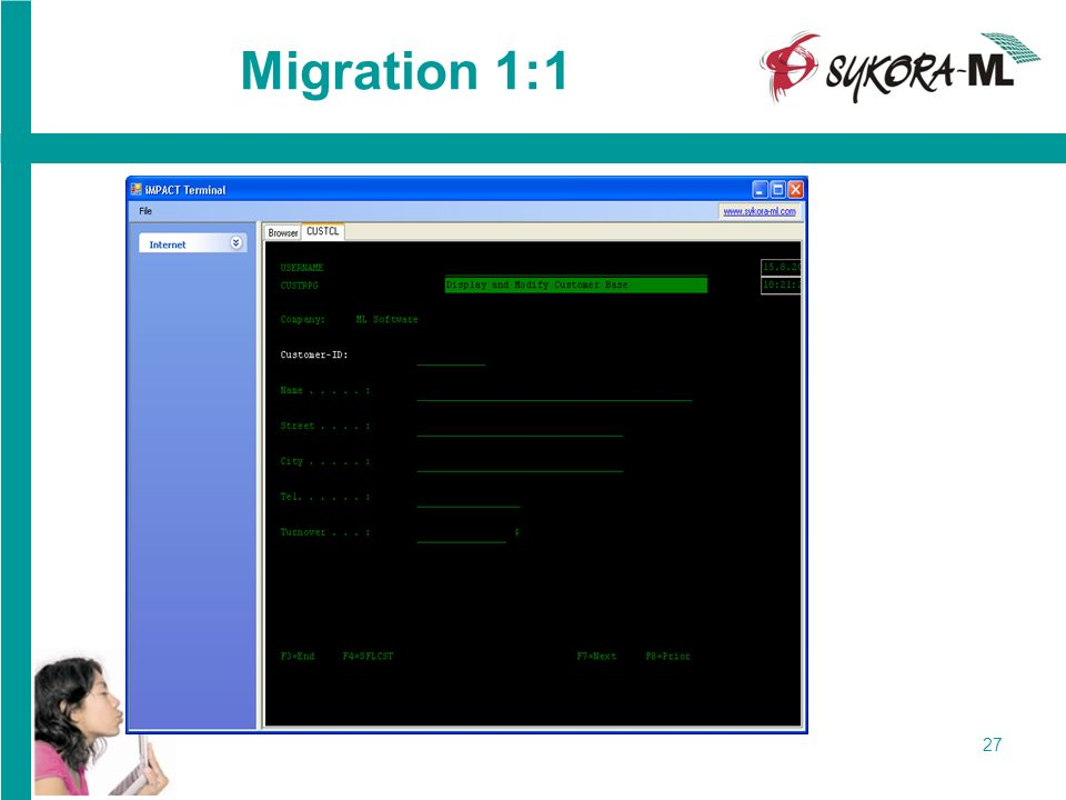 Migration 1:1 Launching of raw migrated application as iMPACT Client: