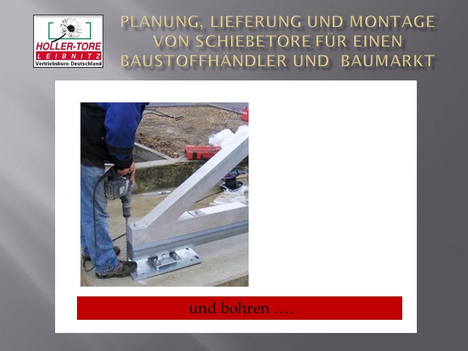 Planung, Lieferung und Montage von SchiebeTore für einen Baustoffhändler und Baumarkt