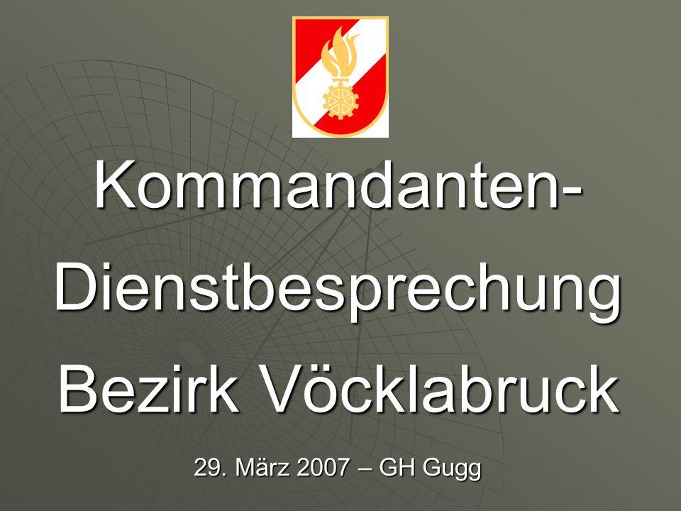 Kommandanten- Dienstbesprechung Bezirk Vöcklabruck 29