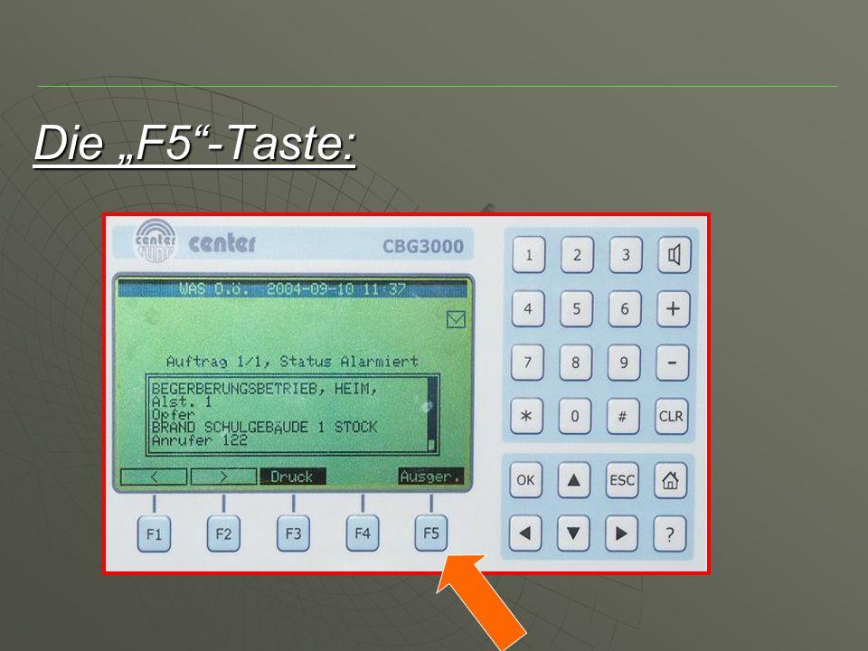 """Die """"F5 -Taste:"""