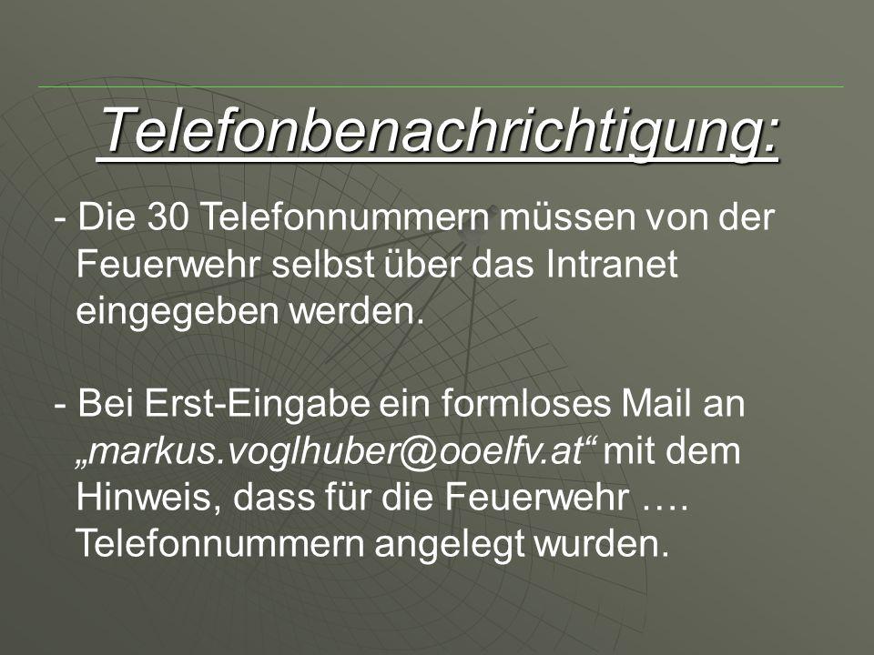 Telefonbenachrichtigung: