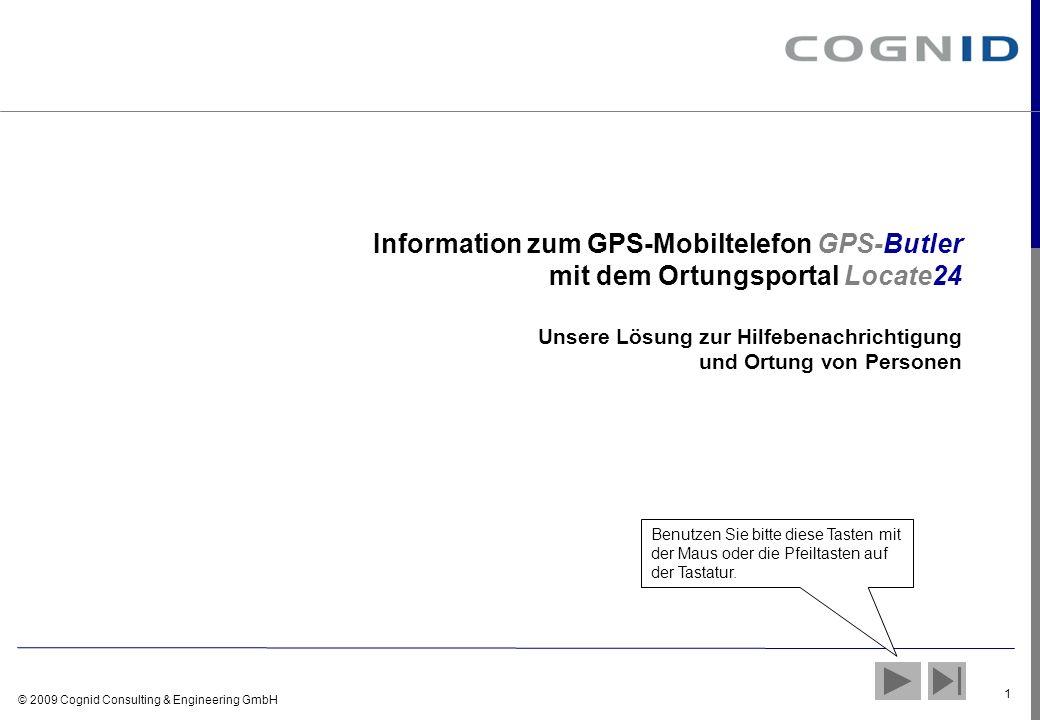 Information zum GPS-Mobiltelefon GPS-Butler mit dem Ortungsportal Locate24 Unsere Lösung zur Hilfebenachrichtigung und Ortung von Personen