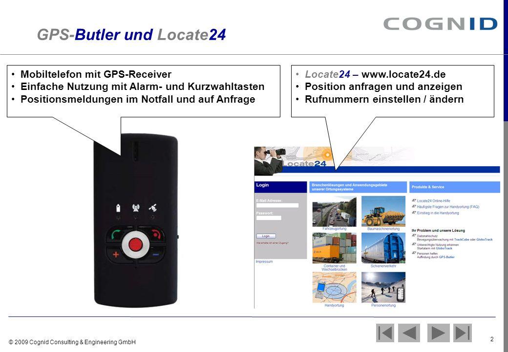 GPS-Butler und Locate24 Mobiltelefon mit GPS-Receiver