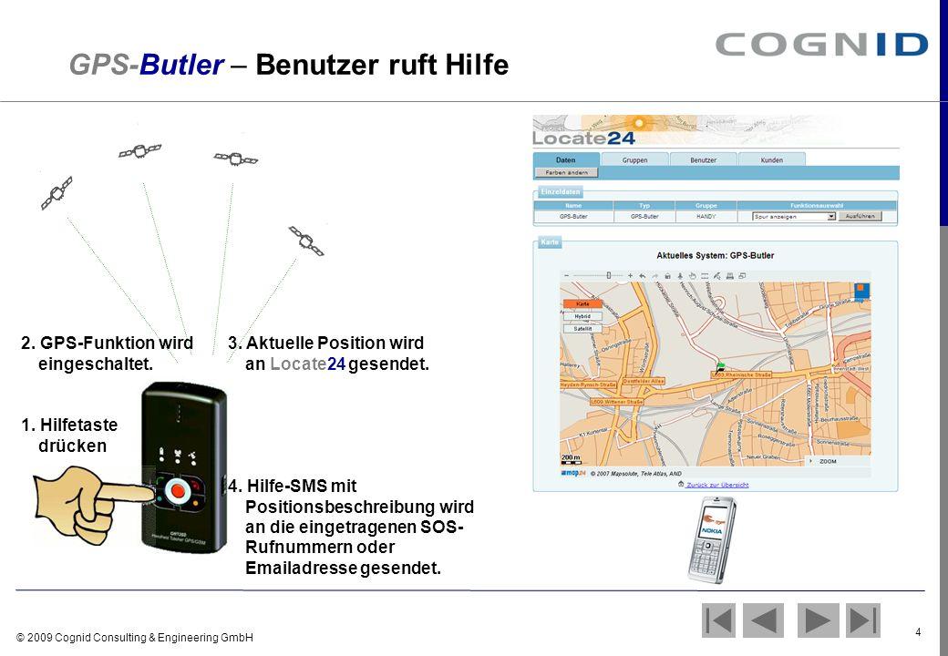 GPS-Butler – Benutzer ruft Hilfe