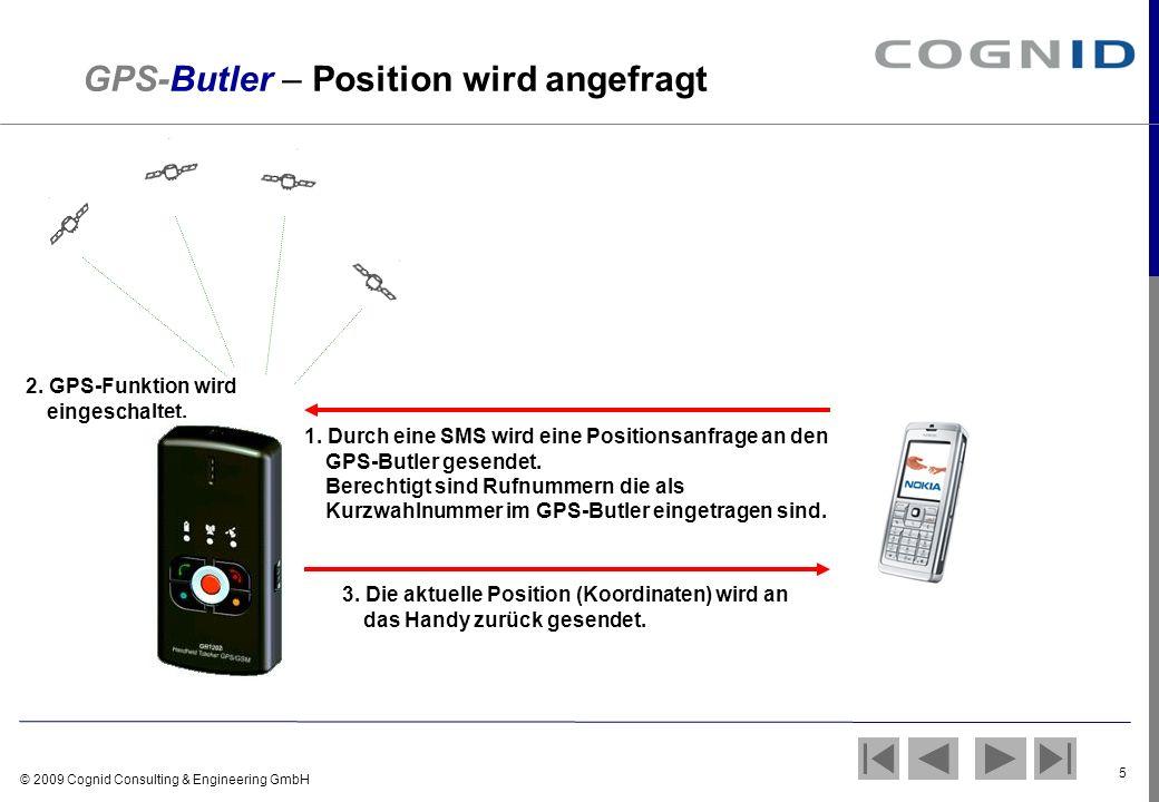 GPS-Butler – Position wird angefragt