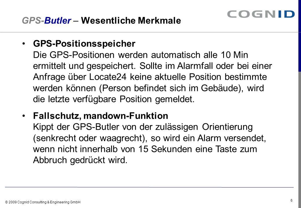 GPS-Butler – Wesentliche Merkmale