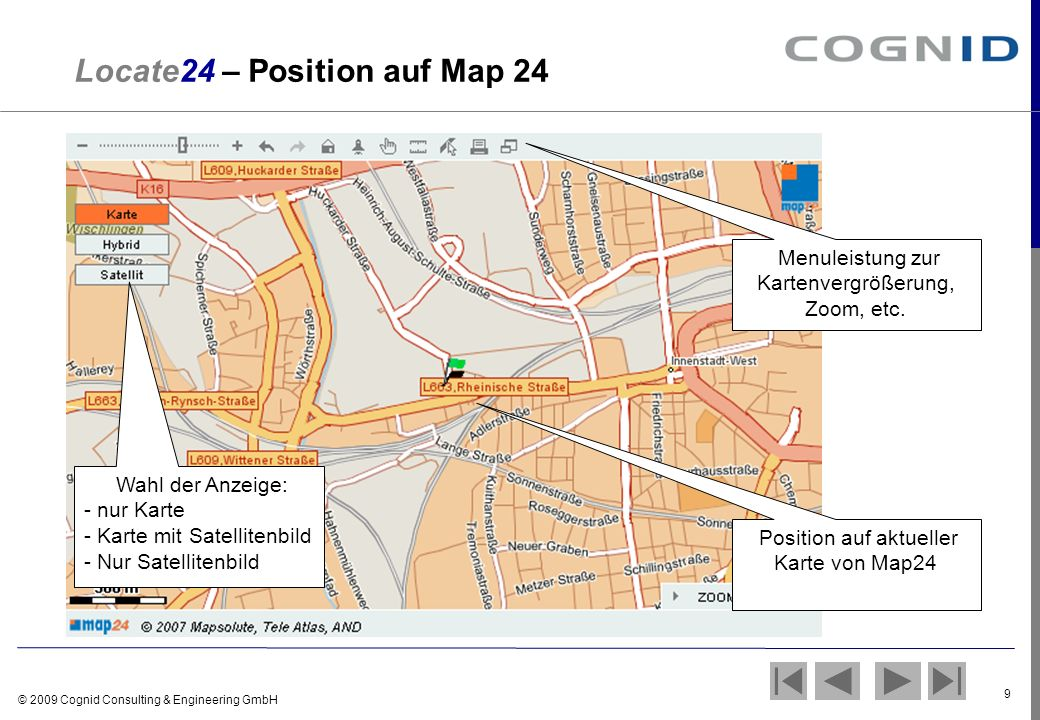 Locate24 – Position auf Map 24