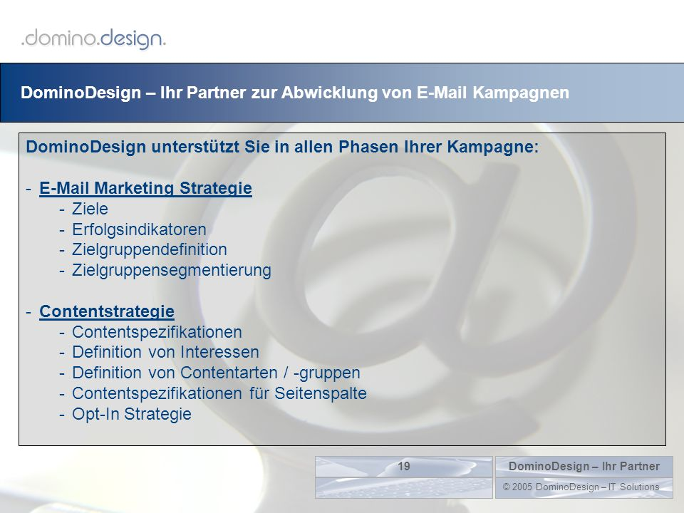 DominoDesign – Ihr Partner