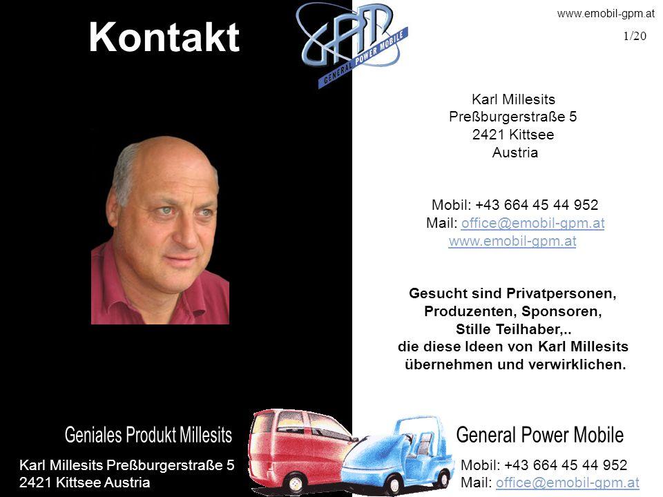 Kontakt Karl Millesits Preßburgerstraße 5 2421 Kittsee Austria